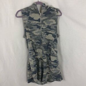 GB GIRLS romper with pockets & hoodie camo size 12
